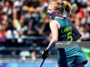 BUENOS AIRES, ARGENTINA - OCTOBER 14: Amy Lawton of Australia celebrduring day 8 of the Buenos Aires Youth Olympics Games ates in the Women's Classification Match 5-6 during day 8 of the Buenos Aires Youth Olympics Games at Youth Olympic Park on October 14, 2018 in Buenos Aires, Argentina. (Photo by Amilcar Orfali/Getty Images)