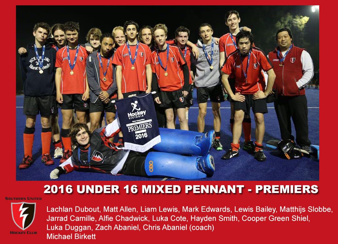 2016 Outdoor U16 Mixed Pennant
