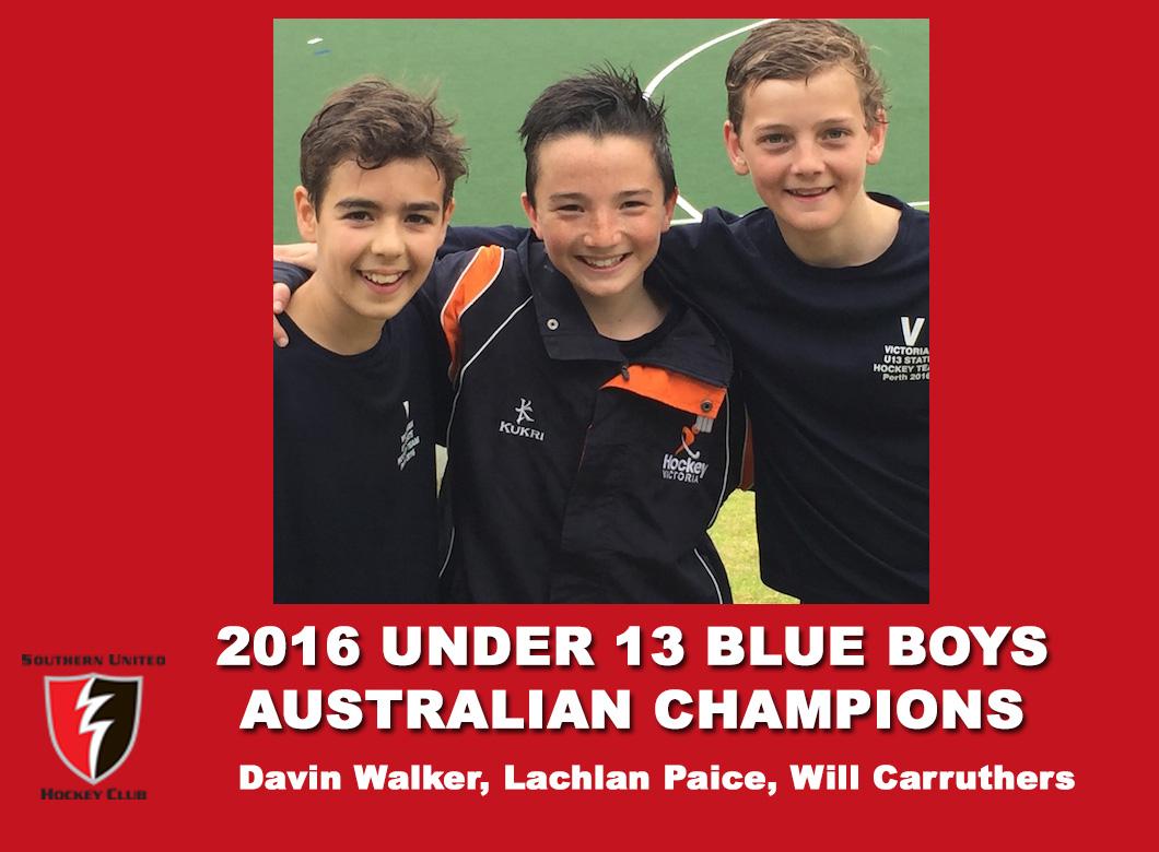 2016 Under 13 blue Boys