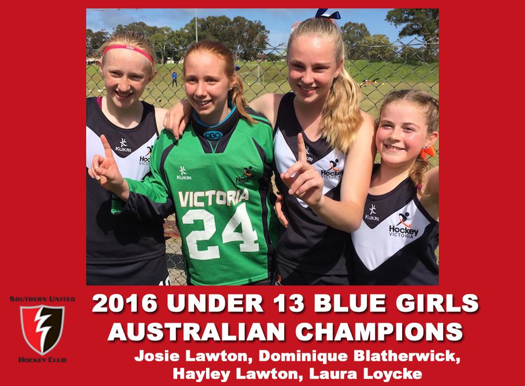 2016 Under 13 girls blue