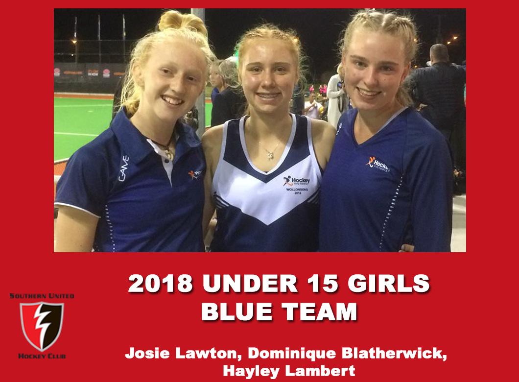 2018 Under 15 Girls Blue