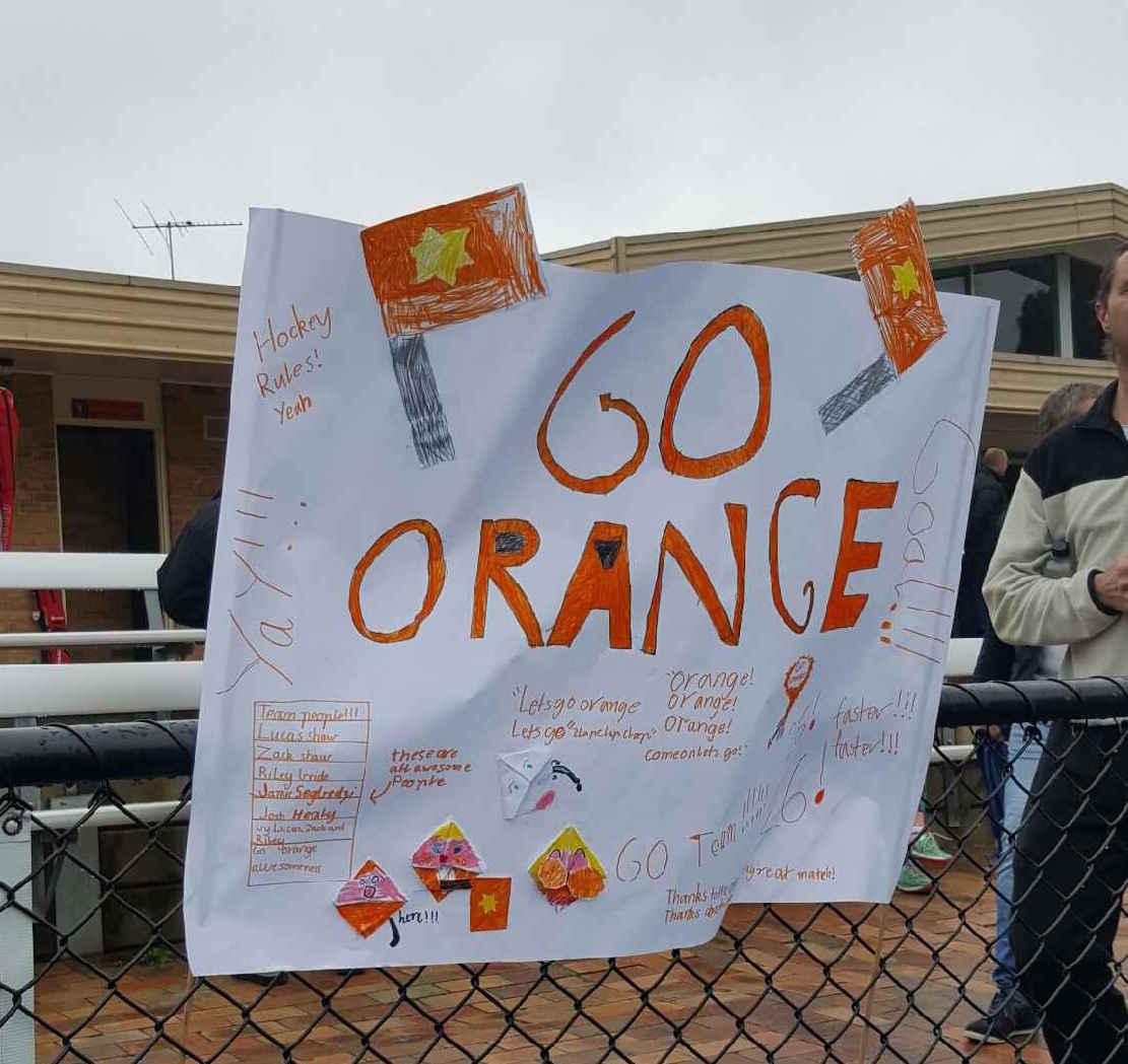 Orange supporters