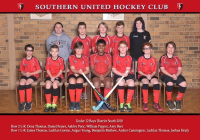 UNDER 12 BOYS DISTRICT SOUTH