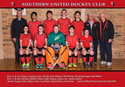 UNDER 16 MIXED DISTRICT SOUTH EAST RED