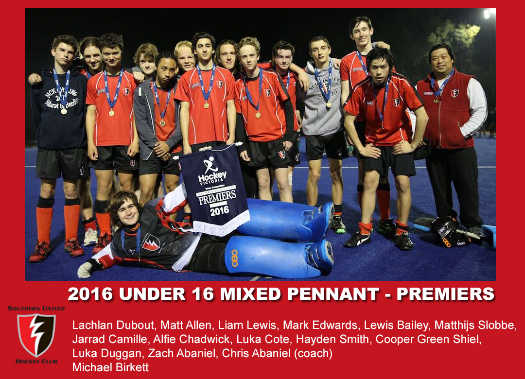 2016 Outdoor U16 Mixed Pennant