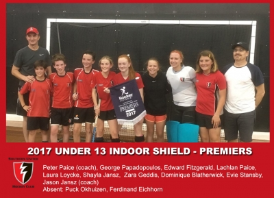 2017 Indoor U13 Shield