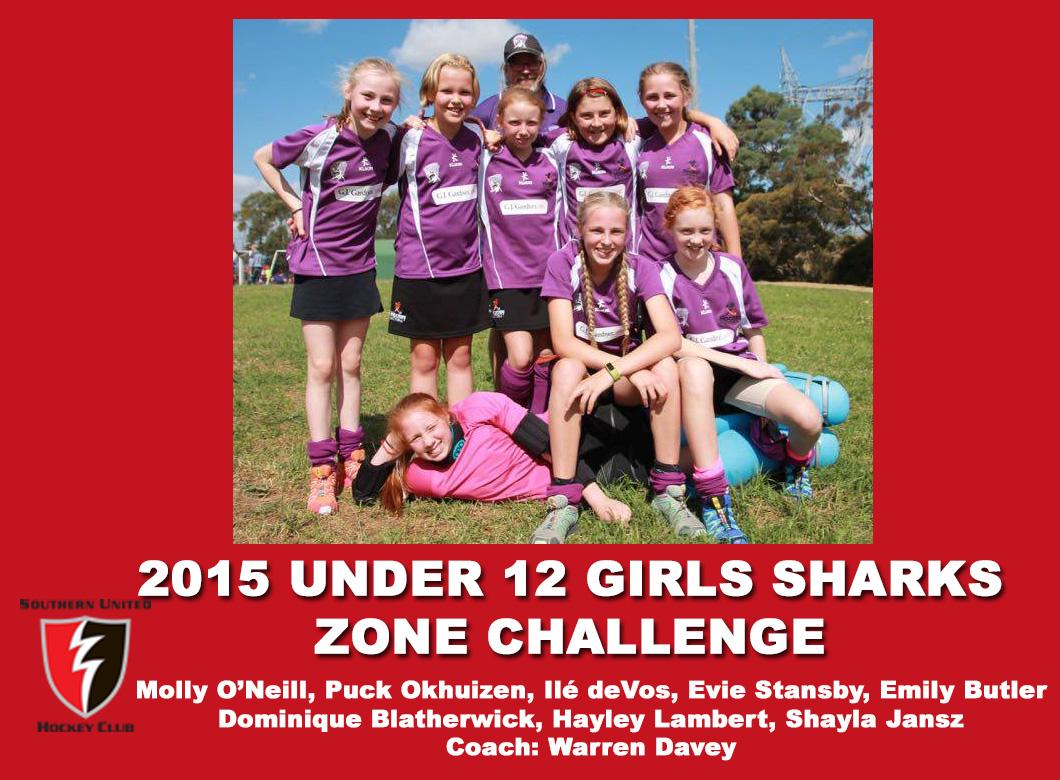 2015 Junior Sharks Under 12 Girls Zone Challenge