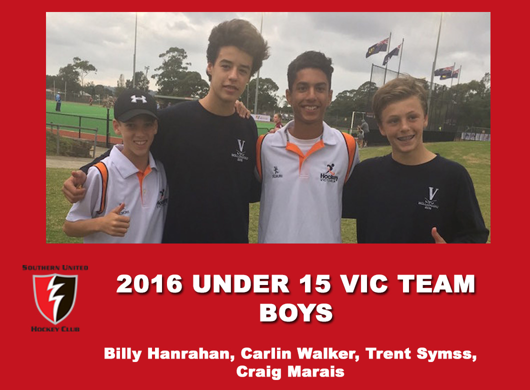 2016 Junior Vic Under 15 boys