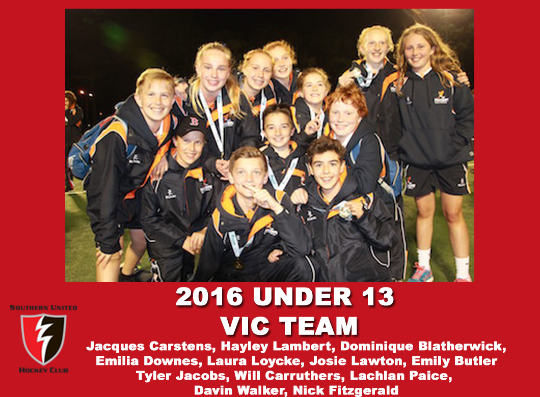 2016 Junior Vic Under 13 All