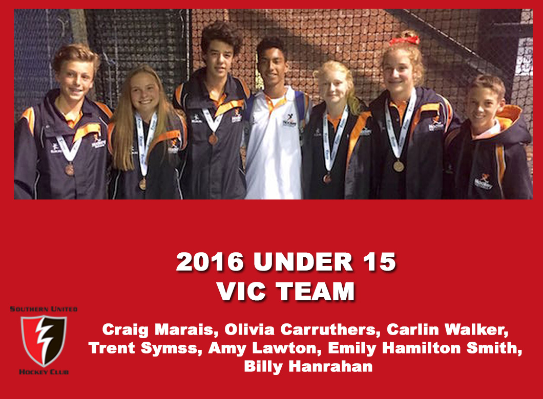 2016 Junior Vic  Under 15