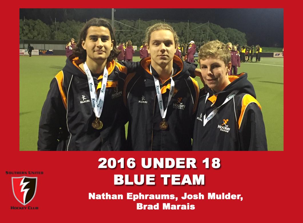2016 Junior Vic Under 18 Blue Men