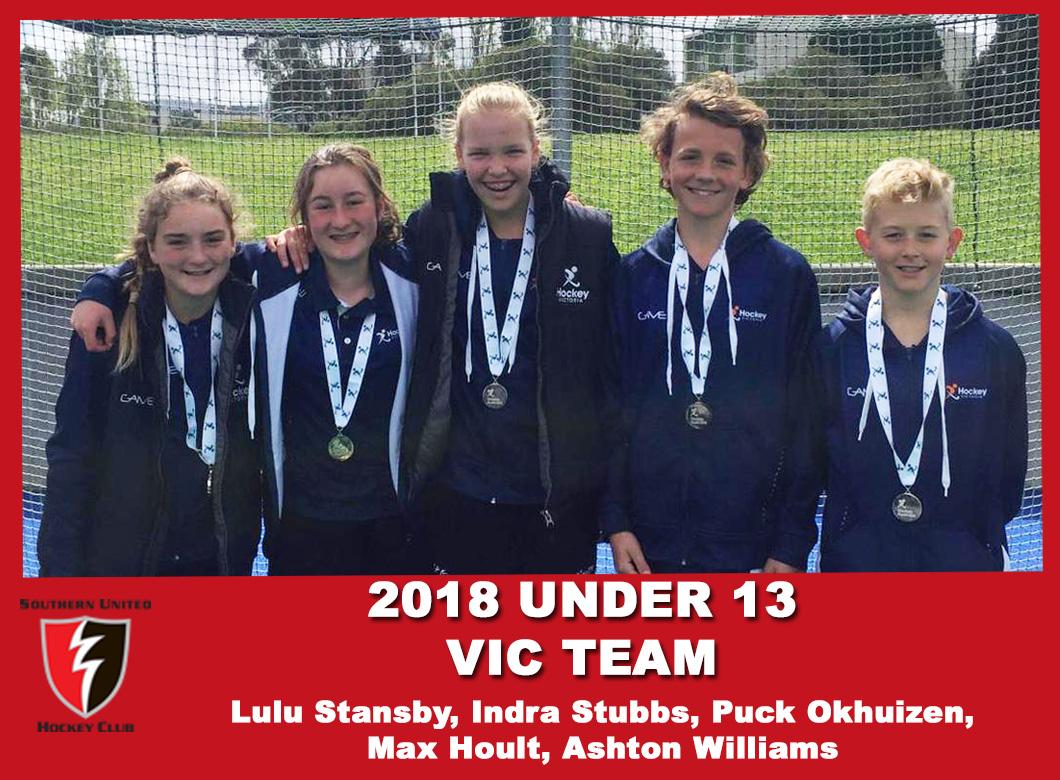 2018 U13 Vic team