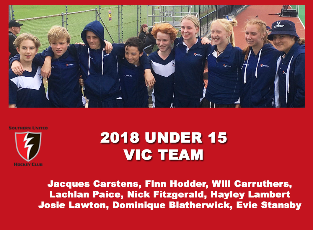 2018 Junior Vic Under 15