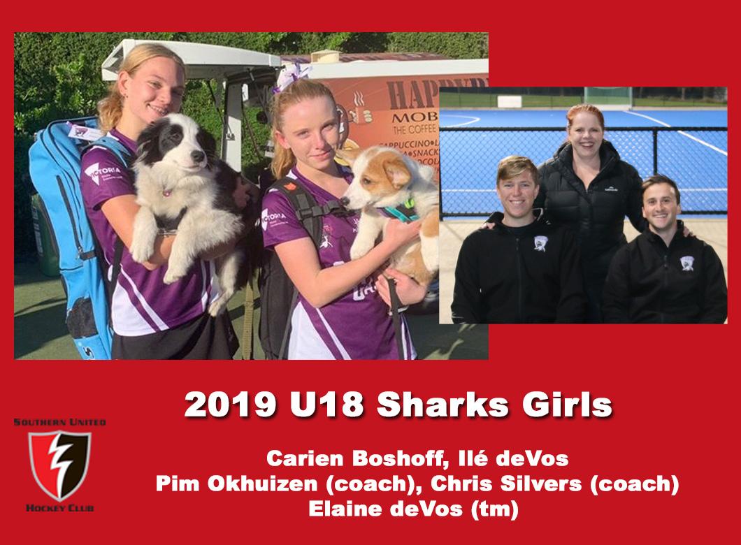 2019 Junior Sharks Under 18 Girls
