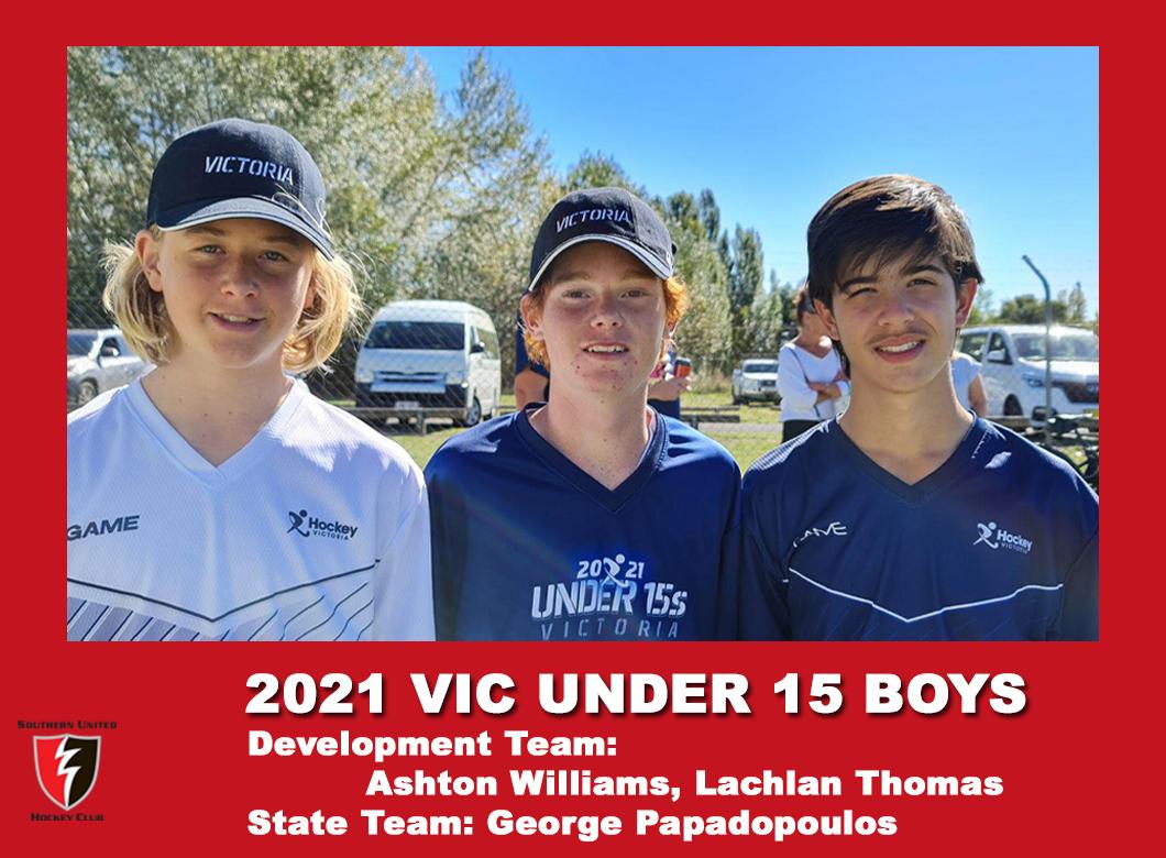 2021 Junior Vic  Under 15 Boys