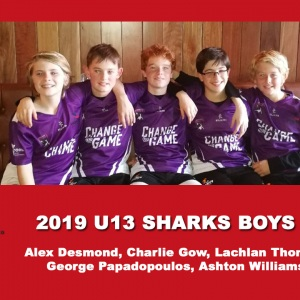 2019 Junior Sharks Under 13 Boys