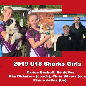 2019 Junior Sharks Under 18 Girls